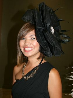 Big black flower arturo rios hat