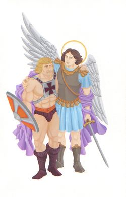 He-Man and St. Michael Find They Have a Lot in Common