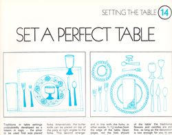 Grand diplome table setting