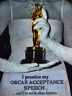 Oscar speech postsecret