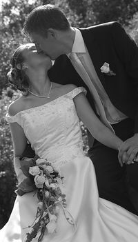 Bride groom wedding kiss Loelle flickr