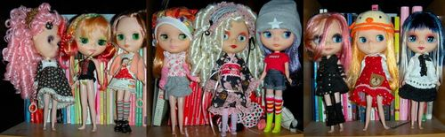 Customized blythe dolls