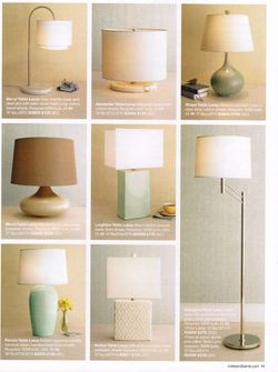 Crate & Barrel lamps without cords