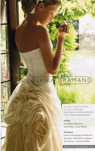 Smoking Italian bride