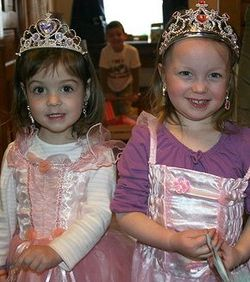 Girls dressup pink princess dresses tiaras abbybatchelder Flickr