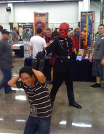 Red Skull executes Ejen Chuang Cosplay in America SuperCon 2010