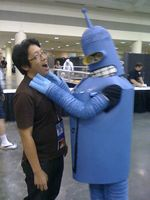 Bender attacks Ejen Chuang Otakon Cosplay in America
