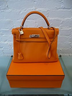 HERMES KELLY SWIFT ORANGE K 2007 Decades vintage handbag