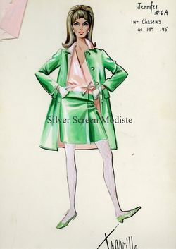 Costume sketch Travilla Valley of the Dolls
