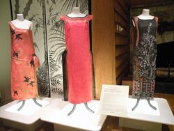 De Borchgrave 1920s paper dresses based on originals by Poiret, Lanvin, and Redfern of London