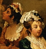 Hogarth's Rake's Progress patched prostitutes