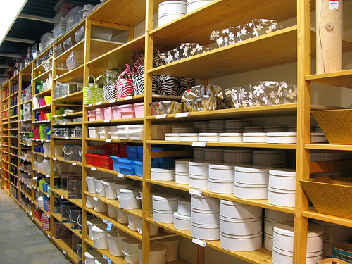 Container Store shelves